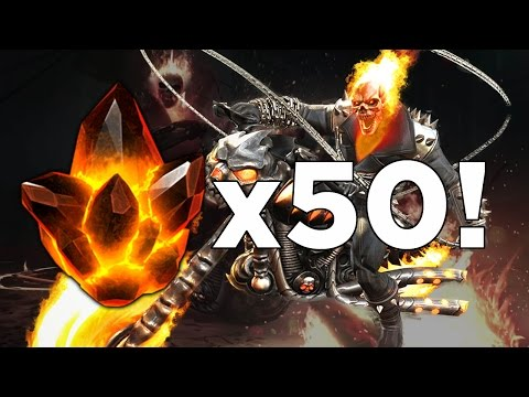 Opening 50x Ghost Rider Crystals! - Marvel Contest of Champions Crystal Opening