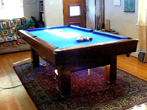Under My Pool Table YouTube - Sportcraft 1926 pool table
