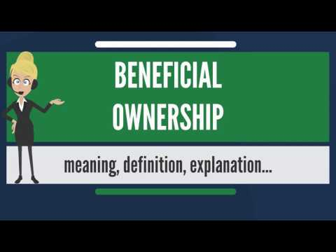 What is BENEFICIAL OWNERSHIP? What does BENEFICIAL OWNERSHIP