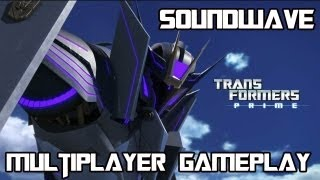 Transformers Prime: The Game - Multiplayer Gameplay as Soundwave in Emblem Battle w/ Commentary