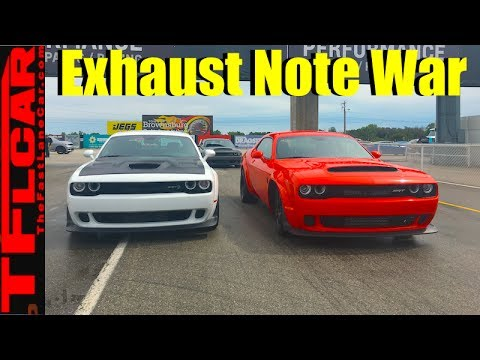 2018 Dodge Demon vs Hellcat Wide Body: Which One Sounds Better?