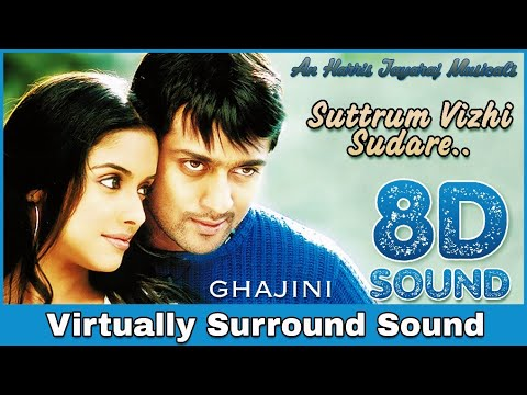 Suttum Vizhi Sudare | 8D Audio Song | Ghajini | Harris Jayaraj | High Quality 8D Songs