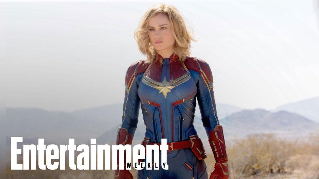 Captain Marvel First Exclusive Images With Brie Larson Samuel L Jackson