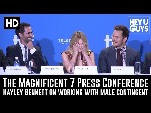 Haley Bennett on working with the Men in The Magnificent Seven & riding a 'sexy horse'!