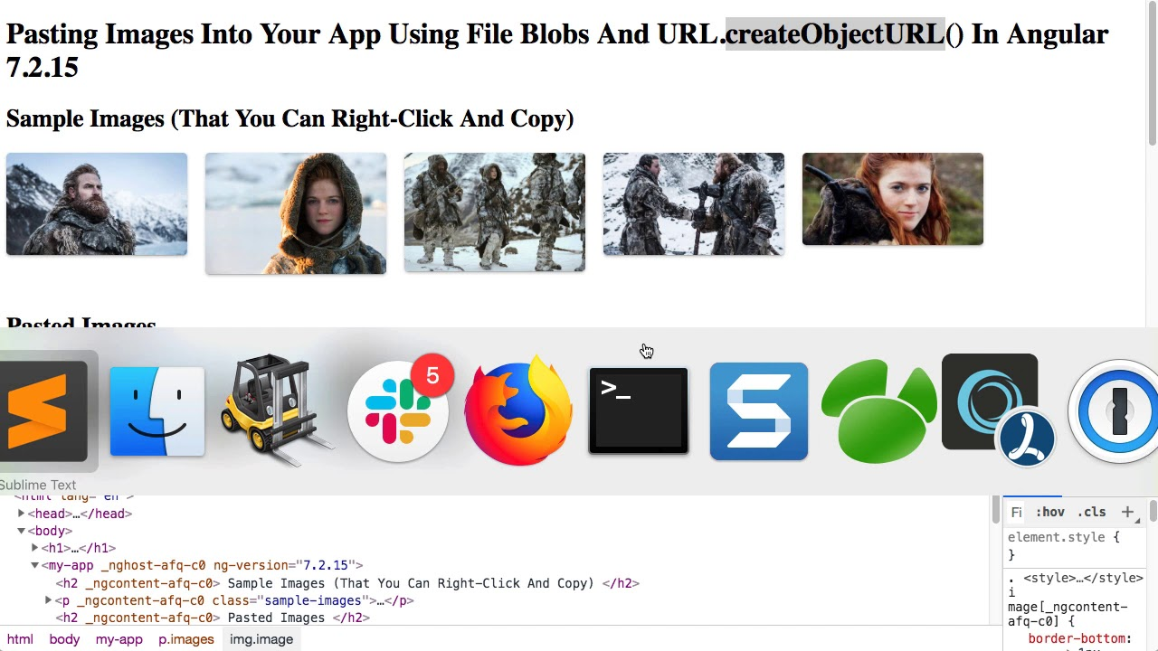 Pasting Images Into Your App Using File Blobs And URL createObjectURL() In  Angular 7 2 15
