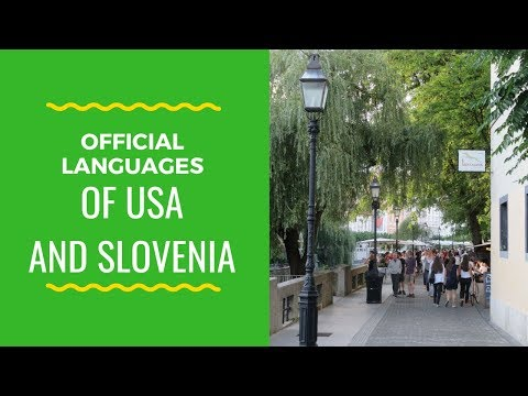 Is there an official language of Slovenia or the U.S.?