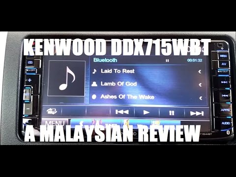 Kenwood DDX715WBT 2 Din Monitor with DVD Receiver - A Malaysian Review And User Tips