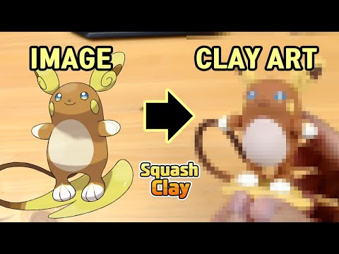 Pokémon Clay art - Alolan Raichu