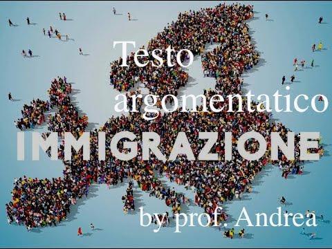 Testo argomentativo sull'immigrazione