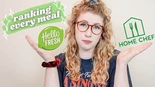 HELLO FRESH VS HOME CHEF PART 1 | Ranking all of our Hello Fresh Meals | NonSponsored Review