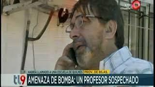 Un profesor sospechado por amenaza de bomba