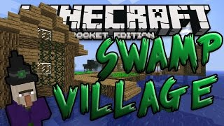 SWAMP VILLAGE w/ Witch Hut!! 0.15.2 Minecraft PE Seed (Pocket Edition)