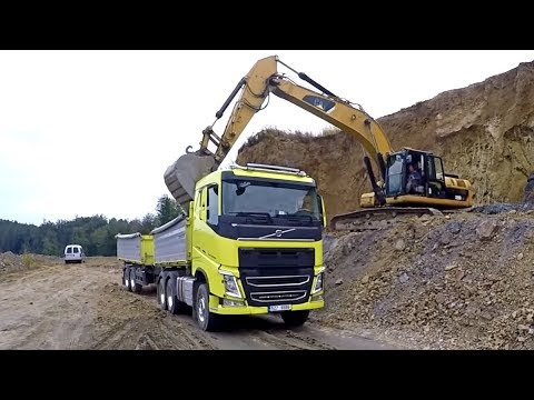 Volvo FH And FMX  In Quarry