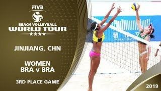 LIVE 🔴 - Women's 3rd Place Game - FIVB Beach Volleyball World Tour - Jinjiang (CHN) - 4*