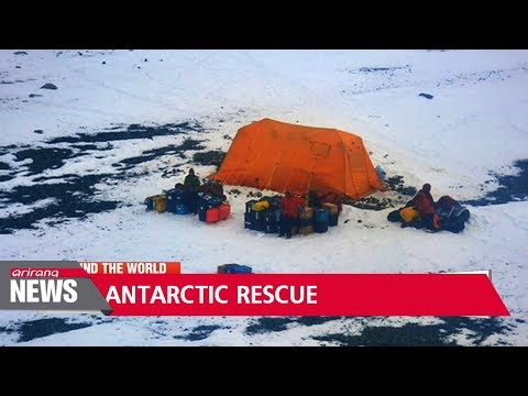 U.S. scientists rescued from Antarctica