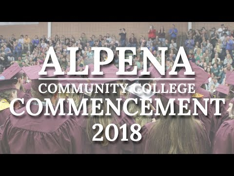 Alpena Community College Commencement 2018
