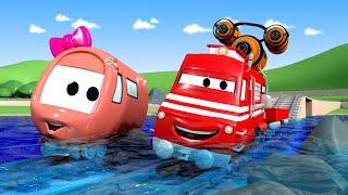 Troy le Train -  Le lac est asséché!  ! - La Ville des Voitures 🚓 🚒 Dessin animé Trains