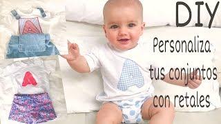 DIY 3 formas de personalizar CAMISETAS CON INICIALES a mano y a máquina. Baby T-Shirts