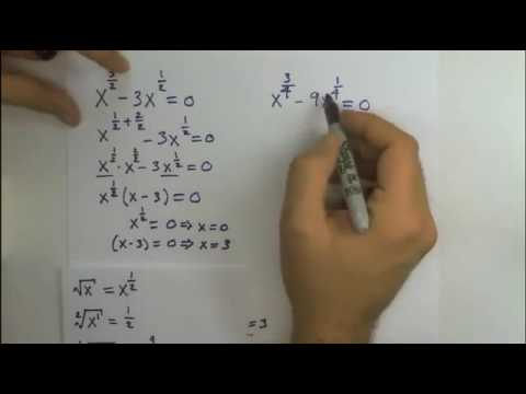 Solve For X In These Equations X 3 2 3x 1 2 0 X 3 4 9x 1 4 Youtube