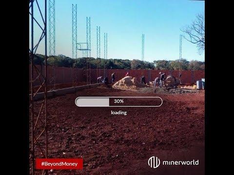 Construção da Nova Mineradora de Bitcoin Minerworld no Paraguay.