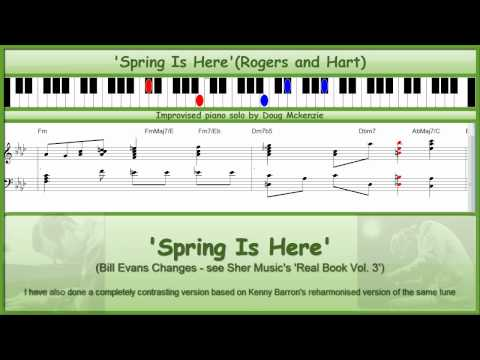 'Spring Is Here' - Bill Evans' Changes - jazz piano tutorial