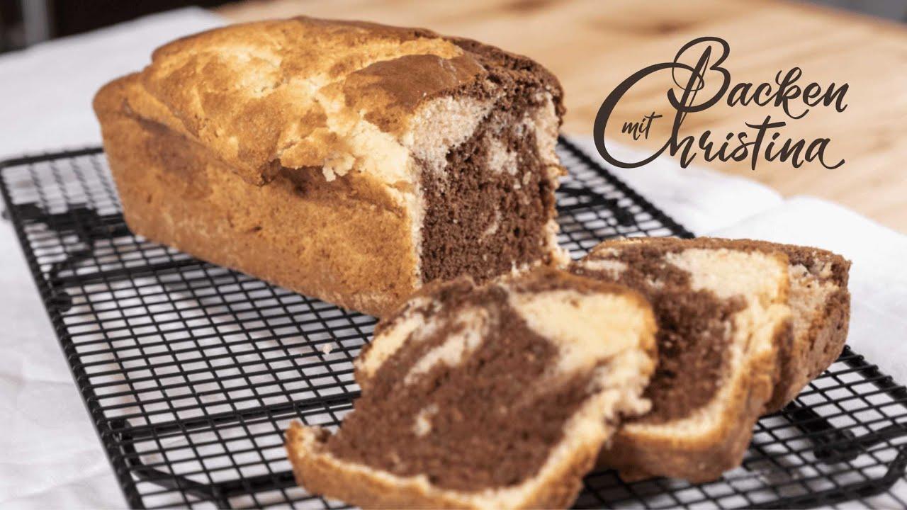 Marmorkuchen Ein Einfacher Flaumiger Kuchen Aus Der Kastenform
