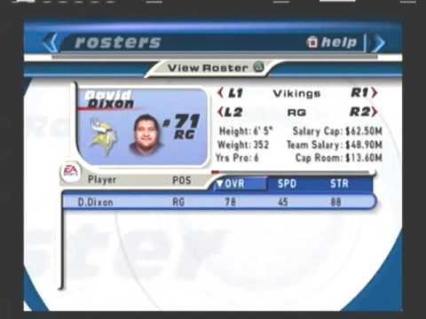 Retro Rosters 2000 2001 Minnesota Vikings Madden NFL 2001