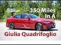 350 Miles In A 2017 Alfa Romeo Giulia Quadrifoglio