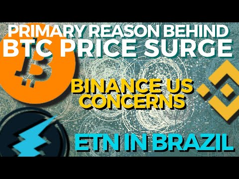 Why Is BTC Price Surging? Binance US Concerns   Electroneum In Brazil   Bitcoin News