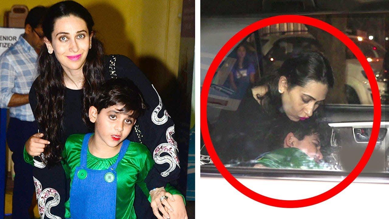 Karishma Kapoors Son Kiaan Crying Badly After Getting -2321