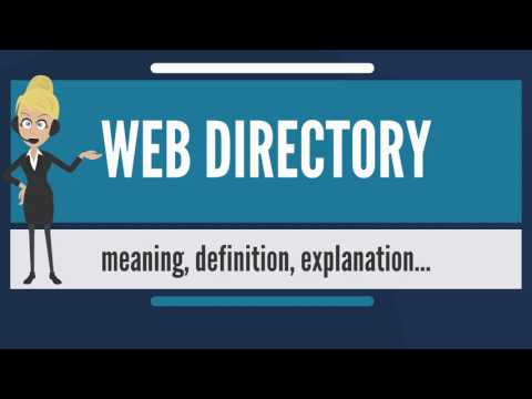 What is WEB DIRECTORY? What does WEB DIRECTORY mean? WEB DIRECTORY meaning & explanation