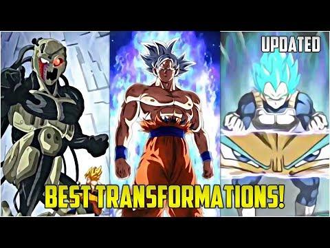 BEST TRANSFORMATIONS IN DOKKAN BATTLE! (Updated) | Dokkan Battle List!