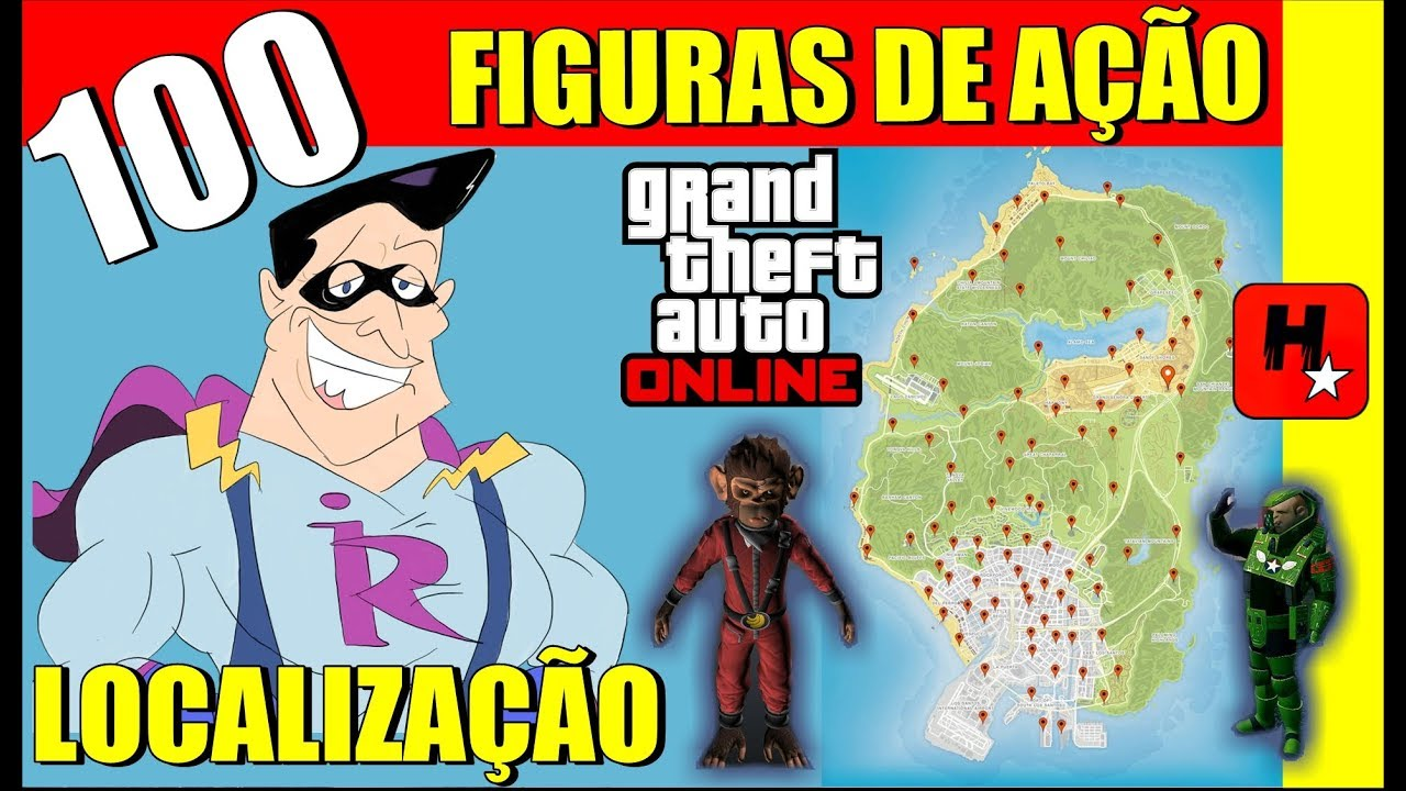 100 Figuras De Acao Localizacao Mapa Gta Online All 100 Action Figures Locations And Impotent Rage Youtube