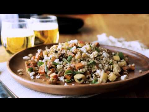 Sweet Potato & Barley Salad w Feta & Oregano