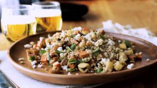 Sweet Potato & Barley Salad w Feta & Oregano