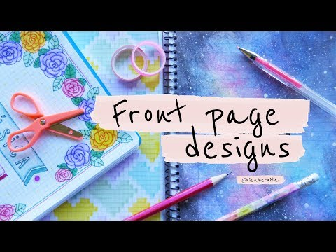 Front Page Design For Project Diy Notebook Decoration Ideas Bullet Journal First Page Youtube