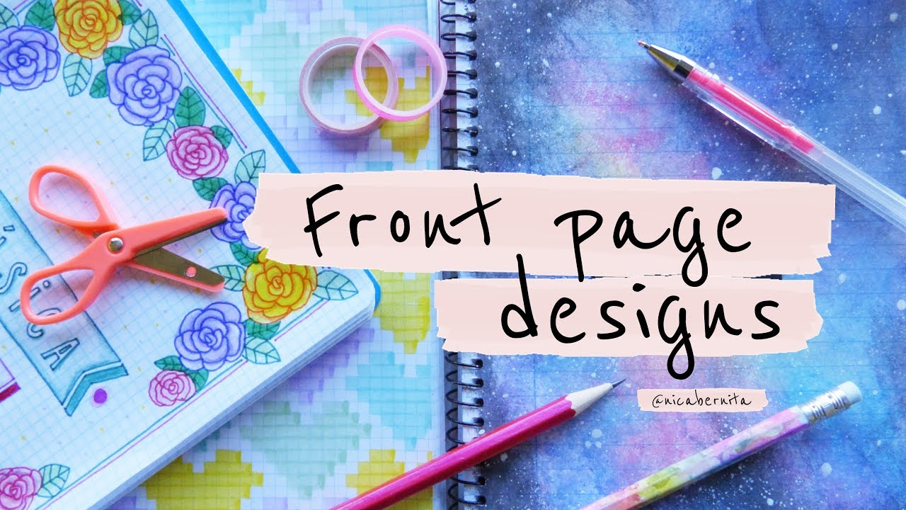 front page design for project diy  notebook decoration ideas bullet journal first page