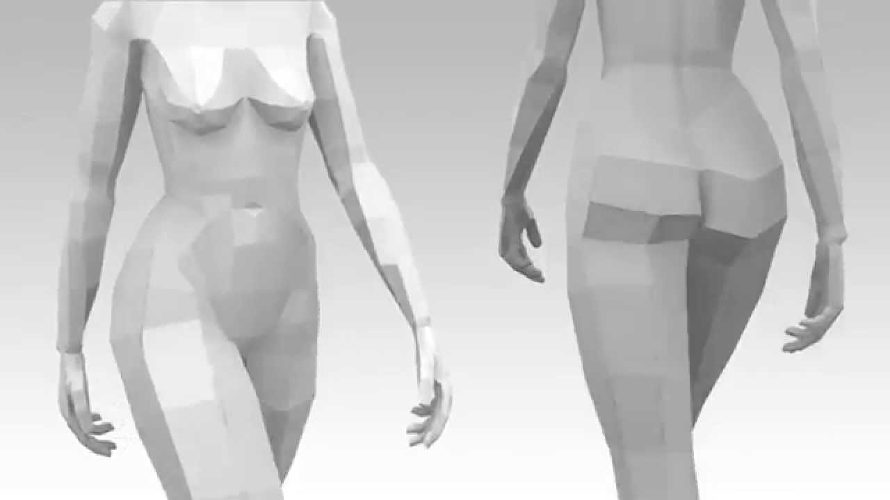 Female Walk Cycle Reference