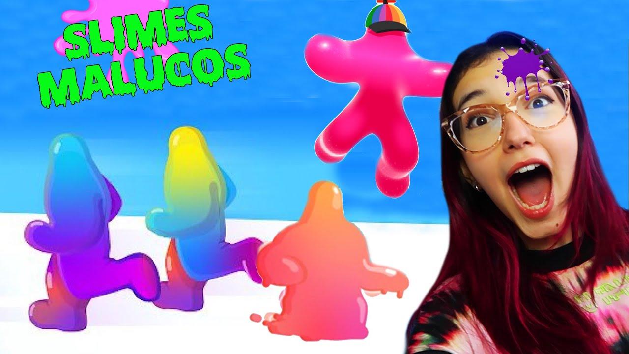 A CORRIDA DA SLIME NOOB MALUCA (Blob Runner 3D) | Família Luluca