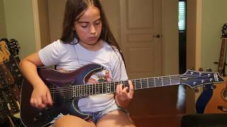 A Kid's Review of the Schecter Hellraiser Hybrid - Anastasia B - 12 year old guitarist