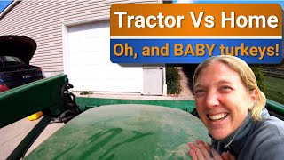 Tractor vs house: Who wins? 😯