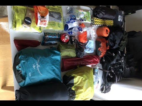 My Lightweight Backpacking Kit For Several Days Hiking (Coast To Coast)