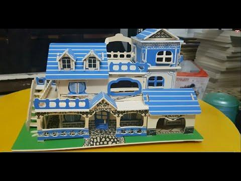 Mô hình lắp ráp gỗ khách sạn  [ Charming aegean sea model ] GardenWoodcraft Construction Kit 3D