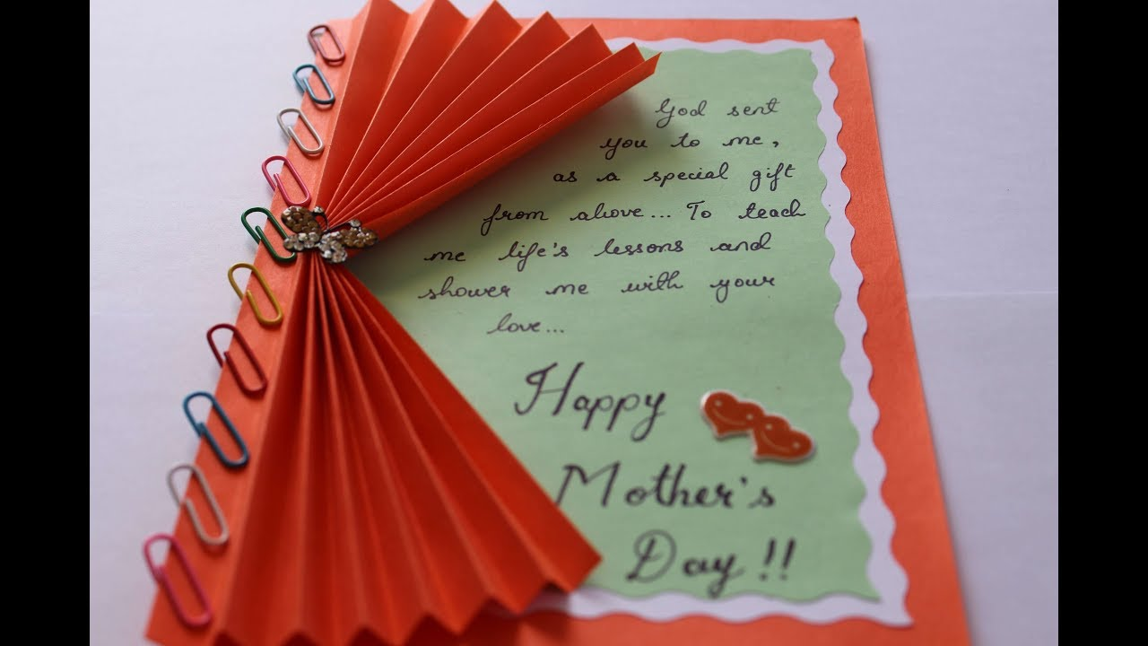For Wife on Mother/'s Day Handmade Me to You Mother/'s Day Card