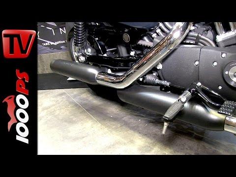 Harley Davidson Screamin Eagle Auspuff @ Custombikeshow 2014