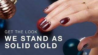 "DIY Holiday Nail Art Tutorial: ""We Stand As Solid Gold"""