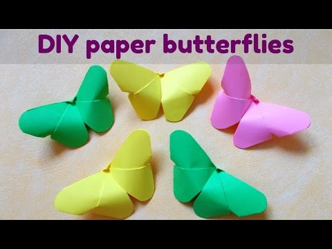 Easy paper craft   Paper Butterfly   Very easy origami   DIY room decor   Wall art   Maison Zizou