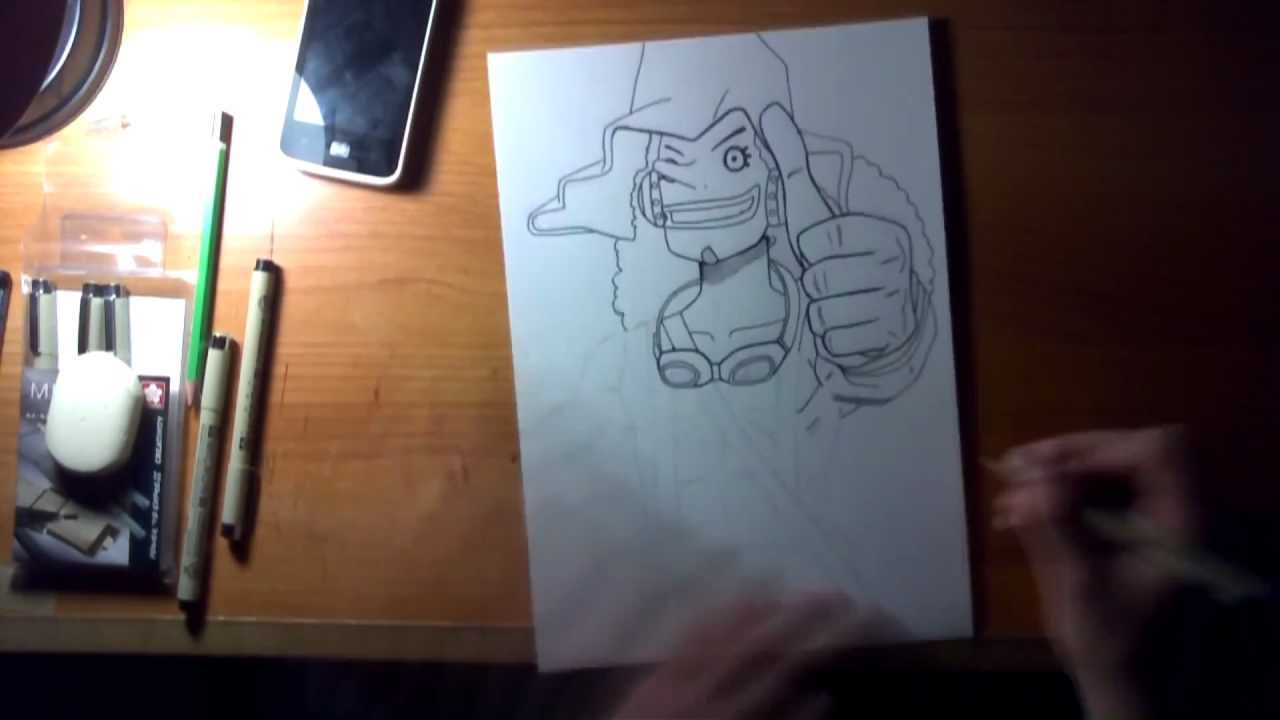 One piece speed drawing ussop 2 ans plus tard youtube - One piece wanted 2 ans plus tard ...