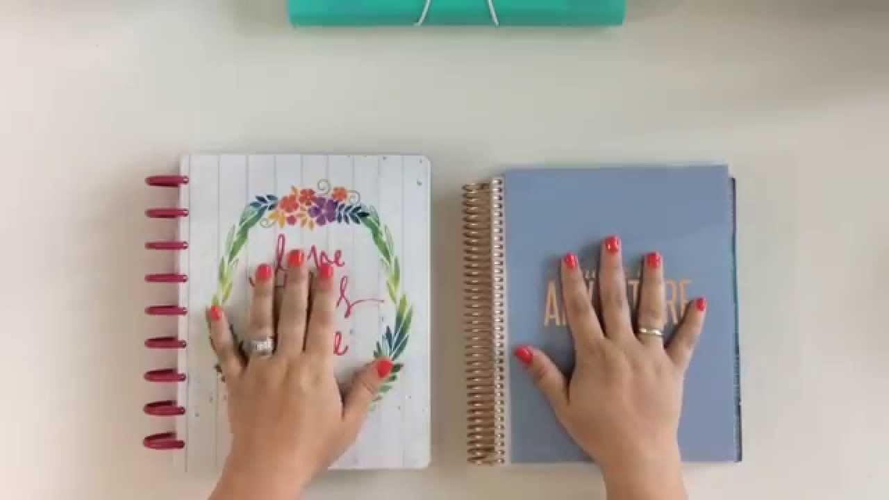 The Happy Planner vs. Erin Condren - YouTube