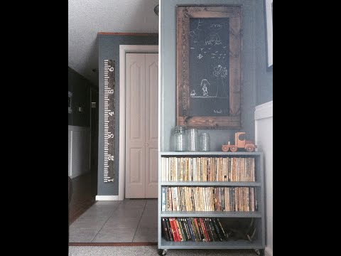 DIY Framed Chalkboard - YouTube